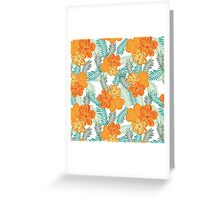 Brush Flower Greeting Card