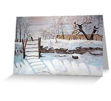 The Magpie - Study of Claude Monet Greeting Card
