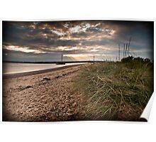 West Mersea beach, Essex Poster