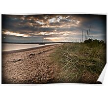West Mersea beach, Essex Poster