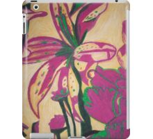 Retro Flowers with yellow background iPad Case/Skin