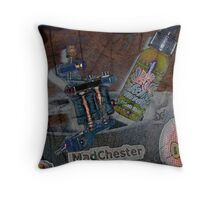 MadChester Inky Chick Throw Pillow