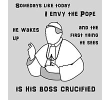THE POPE Photographic Print