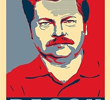 Ron hope swanson  by kurticide