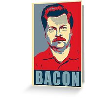 Ron hope swanson  Greeting Card