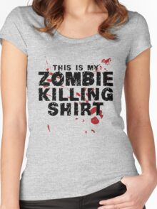This Is My Zombie Killing Shirt Zombies Women's Fitted Scoop T-Shirt
