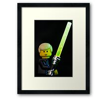 I am a Jedi, like my father before me Framed Print