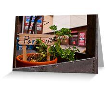 Alleyway Parsely Greeting Card