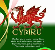 St. David's Day Card - Welsh Dragon by Moonlake