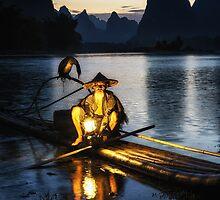 Cormorant Fisherman by aaronchoi