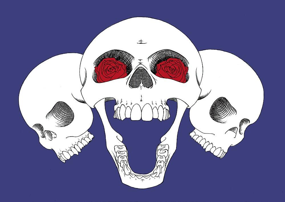 Skulls 'n Roses A.C. Signature Design by johnny jenkins