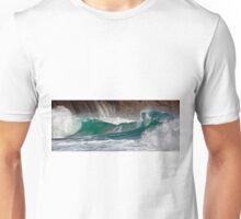 Porth Ceiriad panoramic wave Unisex T-Shirt