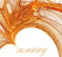 HAPPY ANNIVERSARY - GOLD HEART Sticker