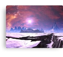 Earthquake Chasm on Alien Planet Canvas Print