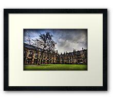 Glasgow Uni Quadrangle Framed Print