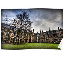 Glasgow Uni Quadrangle Poster
