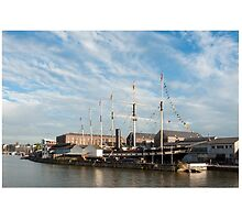 Bristol UK SS Great Britain ship, the first iron steamer to cross the atlantic. by stuwdamdorp