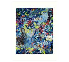 Blue Days In L.A Art Print