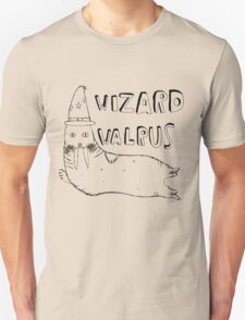 Wizard Walrus (black) T-Shirt