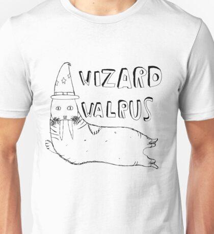 Wizard Walrus (black) Unisex T-Shirt
