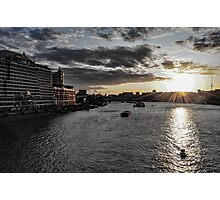 Sunset on the Thames Photographic Print