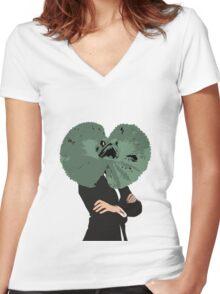 Lizbehonest Women's Fitted V-Neck T-Shirt