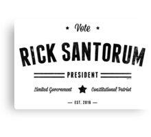 Vote Rick Santorum Canvas Print