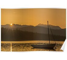 Sunset on Lake Windermere Poster