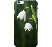 Snowdrops Painted Finger Nails iPhone Case/Skin
