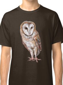 Barn owl drawing Classic T-Shirt