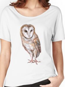 Barn owl drawing Women's Relaxed Fit T-Shirt