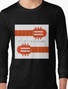 Guitar sound of music Long Sleeve T-Shirt