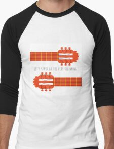 Guitar sound of music Men's Baseball ¾ T-Shirt