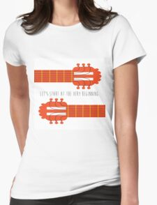 Guitar sound of music Womens Fitted T-Shirt
