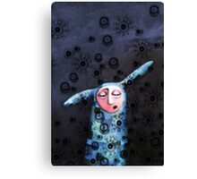 Sad, lonely and bored Canvas Print