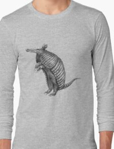 Pencil drawn armadillo Long Sleeve T-Shirt
