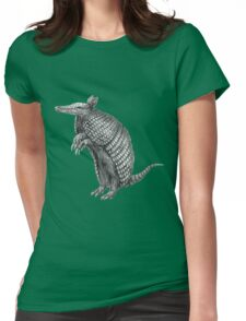Pencil drawn armadillo Womens Fitted T-Shirt