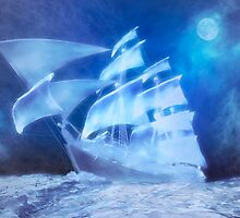 The Flying Dutchman . . . a ghost ship by Carol and Mike Werner