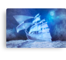 The Flying Dutchman . . . a ghost ship Canvas Print