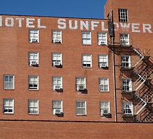 Abilene, Kansas - Hotel Sunflower by Frank Romeo
