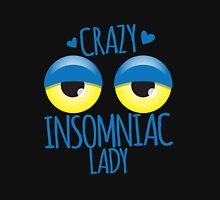 Crazy Insomniac Lady Womens Fitted T-Shirt