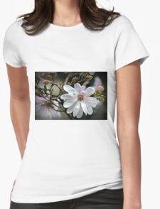White Star Womens Fitted T-Shirt