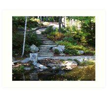 Garden Stairs Art Print
