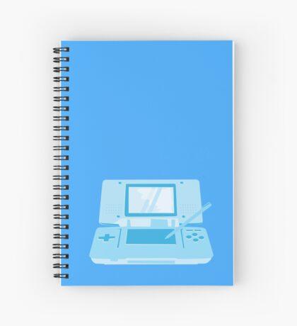 handheld computer game system in blue Spiral Notebook