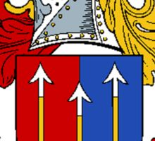 Coat of arms (family crest) for last-name or surname Archer . Heraldry banner for your name. Sticker