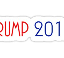 TRUMP 2016 (RED & BLUE) FOR PRESIDENT Sticker