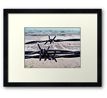 Cold Twisted Metal Framed Print