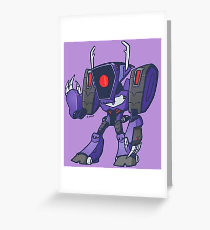 Shockwave from Transformers Animated Version B Greeting Card