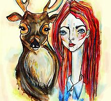 Deer Face by missmagenta