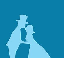 Blue wedding top hat kissing by jazzydevil